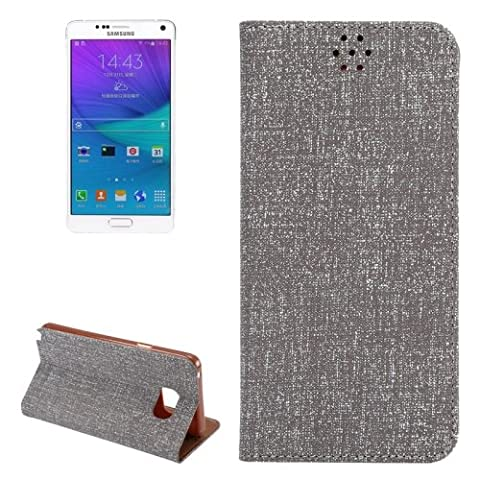 Magnetic Cloth Texture Buckle Leather Housse de Protection avec Emplacements & Holder pour Samsung Galaxy Note 5 Small Quantity Recommended Before Samsung Galaxy Note 5 Launching (Grey)