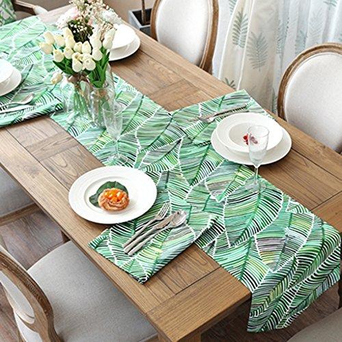 Haiying runner romantico san valentino table runner verde stampato su tela tovaglietta per ufficio cucina da pranzo wedding party home decor ( colore : b , dimensioni : 35*220cm )