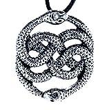 Schlangen Anhänger aus Edelstahl mit Baumwollband