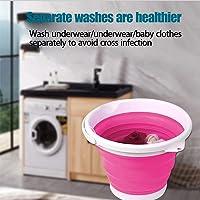 ISENPENK Mini Machine à Laver, Mini laveuse Portable, laveuse de vêtements personnelle Pliable 10L, Machine à Laver…