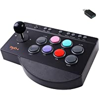 Arcade Fight Stick, PXN Street Fighter Arcade Game Fighting Joystick, with Turbo & Macro Functions, Suitable for PS3…