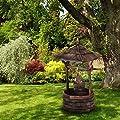 Blumfeldt Loreley • Deko-Brunnen • Garten Dekoration • Gartenbrunnen • Höhe: 135 cm • Material: Tannenholz • Brandbehandlung zum Schutz gegen Witterung • künstlicher Alterungseffekt • einfacher Zusammenbau • Gewicht: 10 kg • einfache