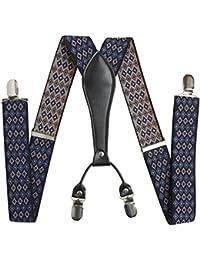 BRUBAKER sportive confortable 4 à bretelles pour homme modèle extra forte clip dans joli coffret cadeau