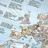 Climbing Map | Kletter-Weltkarte, illustrierte Land-Karte mit den besten Klettergebieten, Routen & Crags der Welt. Poster f. Kletterer, von Sport-Klettern bis Bouldern, wieder-beschreibbar, 97,5x56 cm