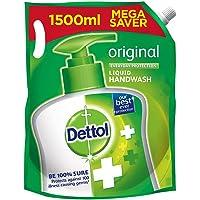 Dettol Liquid Handwash Refill - Original Germ Protection Hand Wash, 1500 ml (Price offer) | Antibacterial Formula | 10x…