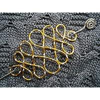 Tuchnadel verschlungen celtic knot Alu in Farbe bicolor gold und silber Geschenk, Geburtstagsgeschenk, Weihnachtsgeschenk