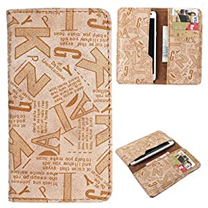 DooDa PU Leather Case Cover With Card Slots For Panasonic P81