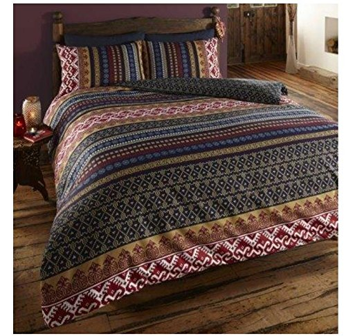 Vogueland Ethnic Indian Print Duvet Cover with Pillow Case, Double by VOGUELAND -