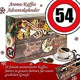 Geschenke zum 54. | Weihnachtskalender Bohnen Kaffee | Kalender Weihnachten aromatisierter Kaffee Kalender Weihnachten Frauen Kalender Weihnachten Mann Kalender Weihnachten xxl Adventskalender Bohnen Kaffee