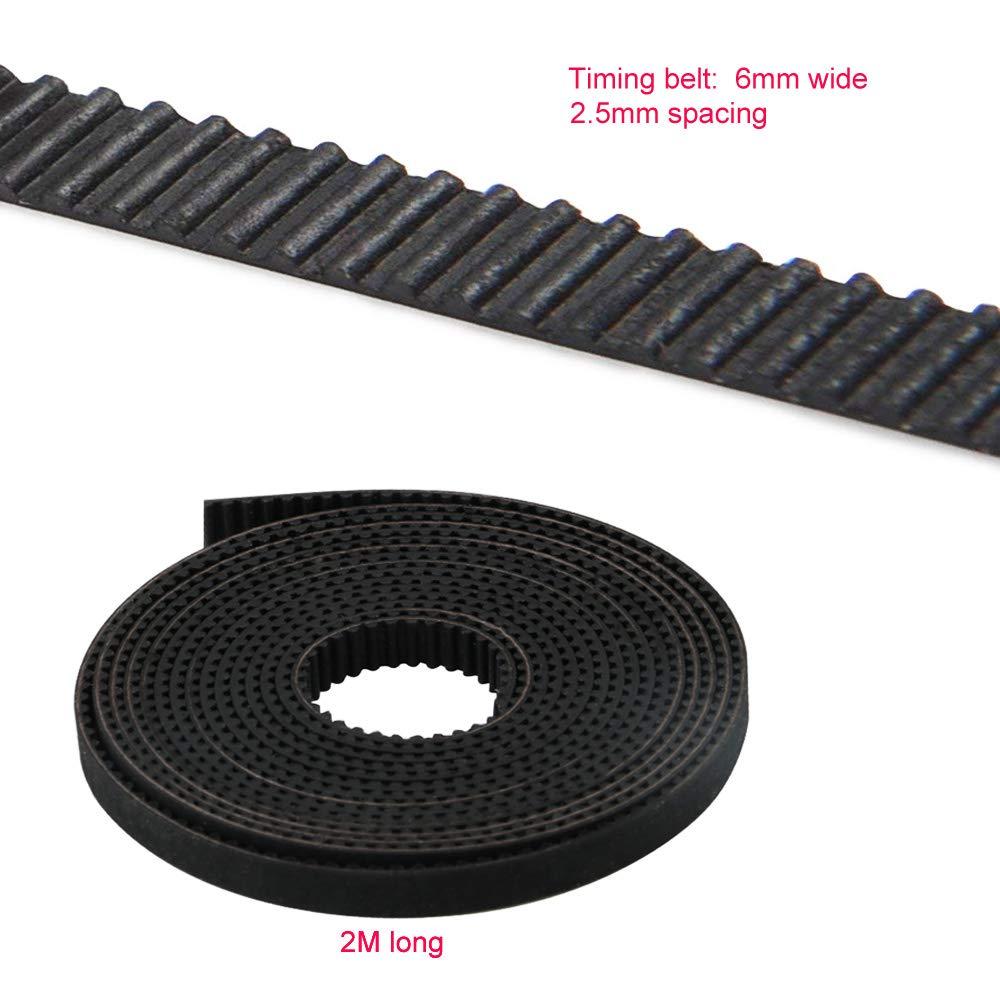 Courroie de distribution de GT2 2mm de pas de 6mm large pour l/'imprimante 3D