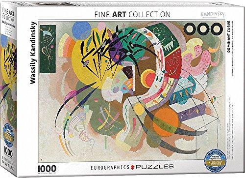 "Eurographics ""Wassily Kandinsky Dominant curve"" Puzzle (1000-Piece, Multi-Colour)"