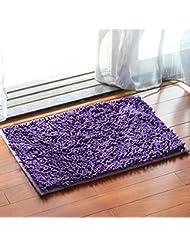 Chenilla tapetes baño esteras anti - derrape alfombra de baño alfombra de pies absorbentes salón dormitorio salón de cabecera Foothill ( Color : K )