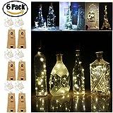 Luci Bottiglia LED Ghirlande Luminose 6in1 Vino Silver filo Con 20 lampadine per decorazione barbecue, riunirsi, Festa, matrimonio, vacanza, Interno, Esterno Natale Albero Hallowy