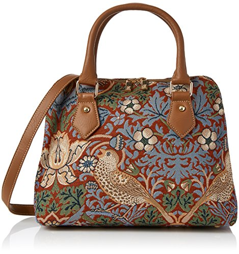 Willam Morris Tapestry Fashion Handbag/Shoulder bag/Cross-body bag in Strawberry Thief (Red) by Siganre