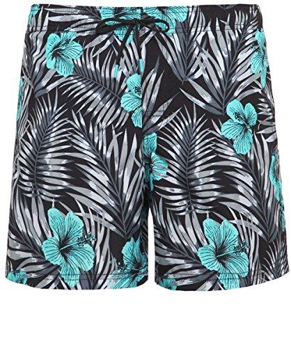 Sundek Hommes shorts de bain impression fleur Noir Noir