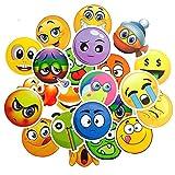 QTHZL Aufkleber 50 Stücke Emoji Aufkleber Lächeln Gesicht Spielzeug Für Kinder Anime wasserdichte...