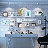 HJKY Foto frame set Persönlichkeit warm, einfache und moderne Europäische, kreative Fotowand, für Wohnzimmer, Schlafzimmer Dekoration, Nussbaum Farbe Weiß anmelden