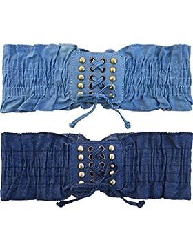 NormCorer 2 confezioni delle cinghie di vita elastiche della tela di canapa delle ragazze del pacchetto per il...