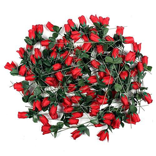 Schramm 24er Pack Hecken Rosen Rot 26cm Kunstblumen Seidenblumen Rote Rose