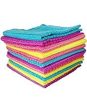 Okayji Multipurpose Microfiber Cleaning Cloth, 12 Piece Set, Multicolor