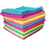 Okayji Multipurpose Microfiber Cleaning Cloth, 12 Piece Set, Multicolor