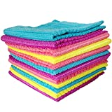 #10: Okayji Multipurpose Microfiber Cleaning Cloth, 12 Piece Set, Multicolor