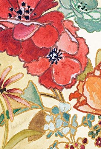 Toland Home Garten-Aquarell-Strauß 71,1 x 101,6 cm, dekoratives Blumenmotiv - Taupe Strauß
