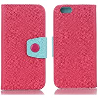 iPhone 7 Plus Phone Case, Elegant Flip Wallet with Card Slots Cash Holder Standing Function Magnetic Detachable Closure Candy Color PU Leather Stand Cover Flip Card Holder Wristlet HandBag wallet case For Apple iPhone 7 5.5 inch