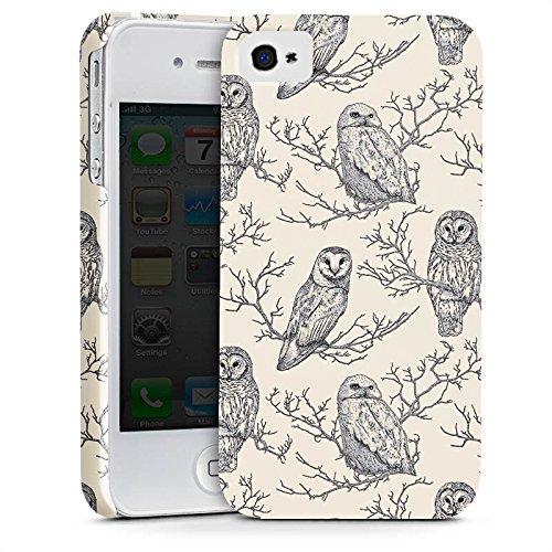Apple iPhone X Silikon Hülle Case Schutzhülle Eulen Wald Natur Premium Case glänzend