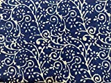 CRAFTOFPINKCITY Baumwollstoff mit Batik-Blumendruck, 1,5 m,