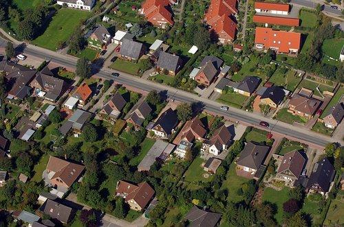 MF Matthias Friedel - Luftbildfotografie Luftbild von Alt Frösleer Weg in Harrislee (Schleswig-Flensburg), aufgenommen am 15.09.06 um 14:55 Uhr, Bildnummer: 4335-03, Auflösung: 4288x2848px = 12MP - Fotoabzug 50x75cm