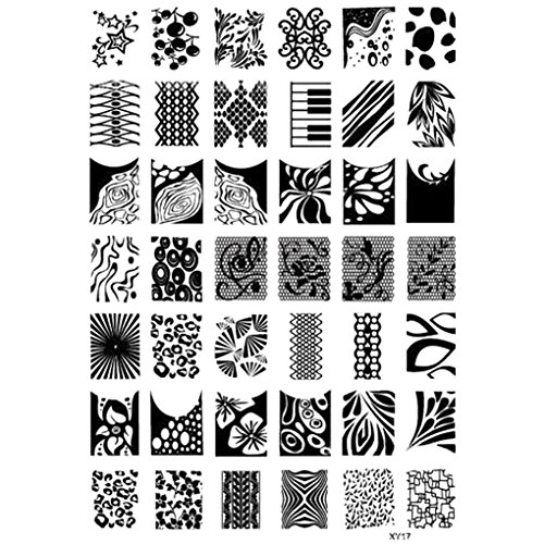g Plates Halloween-Nagel-Kunst-Stempel-Schablone Geist-Schläger Blumen Bild Stempelplatte ()