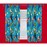 Character world 72-Inch Nintendo Mario Games Curtains, Multi-Colour