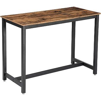 Vasagle Table Haute De Bar Vintage Table Polyvalente Avec Armature