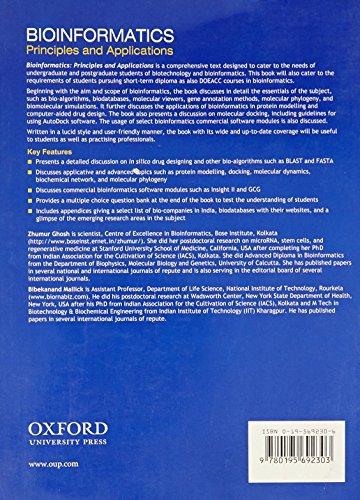 Bioinformatics: Principles and Applications