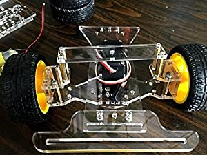 Steering Engine 4 Wheel 2 Motor 2wd Smart Robot Car Chassis Kits DIY for Arduino by SINONING