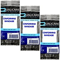 qualicare Kompression fit bequemes Erste Hilfe Bandage Unterstützung Single Pack–10cm x 4m–3Stück preisvergleich bei billige-tabletten.eu