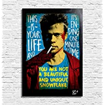 Tyler Durden (Brad Pitt) dal film Fight Club - Quadro Pop-Art Originale con Cornice, Dipinto, Stampa su Tela, Poster, Locandina