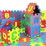 Berrose-36 Stück Baby Kind Zahl Alphabet Puzzle Schaum Mathematik Pädagogisches Spielzeug Geschenk-Baby Kind Nummer Alphabet Puzzle EVA Schaum Mathematik pädagogisches Spielzeug Geschenk (Multicolor, 12*12cm/Pcs)