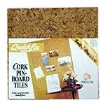 Quickfix 30x30cm Cork Pin-Board Tiles...