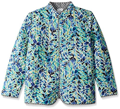 Printed Reversible Jacke (Napa Valley Damen Petite Size Printed Long Sleeve Reversible Steppjacke - Mehrfarbig - 38 Petite)