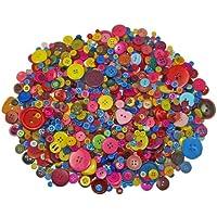 Creativity Papers Lot de boutons de diverses tailles et couleurs pour bricolage, couture et activités manuelles 1000g
