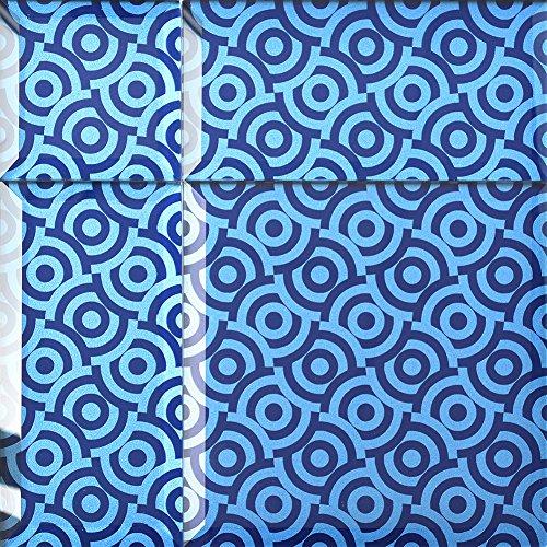 Alfa de CER 5902027023275 bisselglas Verre Carrelage avec Bord Oblique, Verre, Relax, Bleu métallique 29,8 x 29,8 cm