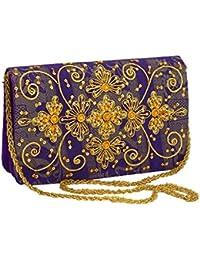 Party Wear Handbag By Himalaya Handicraft Clutch Bag Clutch Embroidery Handmade Clutch Sling Bag For Girls And...