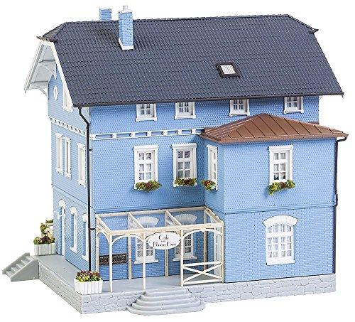 FALLER FA 130439 - Café Das Haus, Zubehör für die Modelleisenbahn, blau, Modellbau