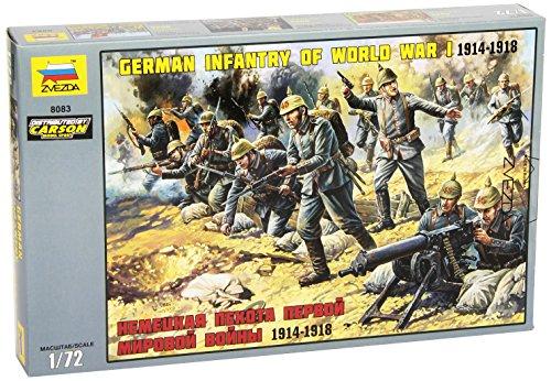 Zvezda 500788083 - 1:72 WW I Figuren-Set Deutsche Infanterie (Infanterie Modelle Deutsche)
