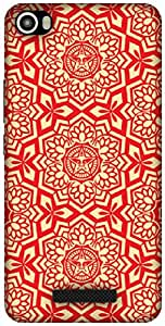 The Racoon Lean RED Tribal hard plastic printed back case / cover for Lava Iris X8