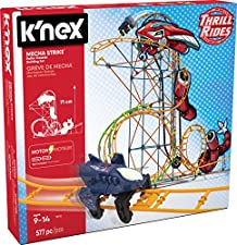K'Nex KNEX Thrill Rides-Jeu Construction-Circuit Mécha Strike-2 Modèles Motorisés, 18515
