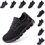 Zapatos de Seguridad Hombre Mujer Zapatillas de Trabajo con Punta de Acero Ligeros Calzado de Industrial y Deportivos Sneaker