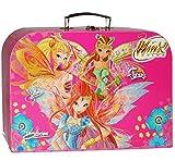 Kinderkoffer - ' Winx Club - Bloom / Schmetterlinge ' - Groß - Puppenkoffer Koffer - Reisekoffer aus Pappe mit Metall Griff - für Kinder Mädchen - Schmetterling / Blumen Blüten